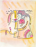 Works on Paper, Peter Max (American, b. 1937). Modern Woman. Watercolor and marker on paper. 9 x 7 inches (22.9 x 17.8 cm) (sight). Sign...