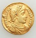 Ancients:Roman Imperial, Ancients: Valentinian I (AD 364-375). AV solidus (20mm, 4.42 gm,6h). VF, clipped....