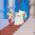 Animation Art:Production Cel, Cinderella Prince and Cinderella Production Cel (Walt Disney, 1950)....