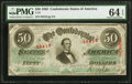 Confederate Notes:1863 Issues, T57 $50 1863 PF-13 Cr. 416 PMG Choice Uncirculated 64 EPQ.. ...