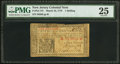 Colonial Notes:New Jersey, New Jersey March 25, 1776 1s PMG Very Fine 25.. ...