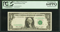 Error Notes:Missing Third Printing, Missing Black Portion of Third Printing Error Fr. 1908-K $1 1974 Federal Reserve Note. PCGS Very Choice New 64PPQ.. ...