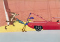 Animation Art:Production Cel, Road Runner and Wile E. Coyote Production Cel Setup (WarnerBrothers, 1971)....