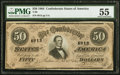 Confederate Notes:1864 Issues, T66 $50 1864 PF-13 Cr. 502 PMG About Uncirculated 55.. ...