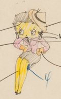 Animation Art:Production Drawing, Judge for a Day Betty Boop Animation Drawing (Max Fleischer,1935). ...