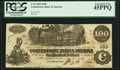 Confederate Notes:1862 Issues, T39 $100 1862 PF-5 Cr. 291 PCGS Extremely Fine 45PPQ.. ...