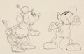 Animation Art:Production Drawing, Camping Out Mickey Mouse and Minnie Mouse Animation Drawing (Walt Disney, 1934). ...