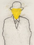 Works on Paper, Rupert Garcia (American, b. 1941). For Magritte, 1988. Pastel on board. 40-3/4 x 32 inches (103.5 x 81.3 cm). Signed and...