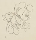 Animation Art:Production Drawing, Trader Mickey Mickey Mouse Animation Drawing (Walt Disney,1932). ...