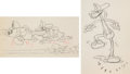 Animation Art:Production Drawing, Mickey's Fire Brigade Mickey Mouse, Donald Duck, and GoofyAnimation Drawings Group of 2 (Walt Disney, 1935). ... (Total: 2Original Art)