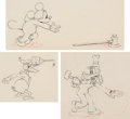 Animation Art:Production Drawing, Mickey's Service Station Mickey Mouse, Donald Duck, and Goofy Animation Drawings Group of 3 (Walt Disney, 1935). ... (Total: 3 Original Art)