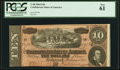 Confederate Notes:1864 Issues, T68 $10 1864 PF-44 Cr. 551 PCGS New 61.. ...