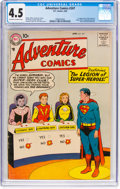 Silver Age (1956-1969):Superhero, Adventure Comics #247 (DC, 1958) CGC VG+ 4.5 Off-white to white pages....