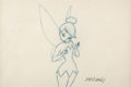 Animation Art:Production Cel, Peter Pan Tinkerbell Animation Drawing Signed by Marc Davis (Walt Disney, 1953)....
