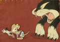 Animation Art:Production Cel, The Country Mouse Abner and the Cat ...