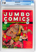 Golden Age (1938-1955):Adventure, Jumbo Comics #9 (Fiction House, 1939) CGC FN/VF 7.0 Light tan to off-white pages....