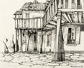 Animation Art:Production Drawing, The Art of Walt Peregoy - House and Street Drawing Original Art (1968). ...