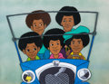 Animation Art:Production Cel, The Jackson 5ive All Five Brothers Production Cel(Rankin-Bass, 1971)....