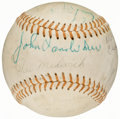 Autographs:Baseballs, 1966 Old-Timers Game Multi-Signed Baseball with Traynor, Grove, Hodges, & Medwick (16 Signatures)....