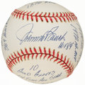 Autographs:Baseballs, Johnny Bench Single Signed Stat Baseball with 17 Inscriptions, Limited Edition 0235/1000. ...