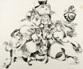 Animation Art:Production Drawing, The Art of Walt Peregoy - Abstract Drawing Original Art (c.1970s-80s)....