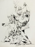 Animation Art:Production Drawing, The Art of Walt Peregoy - Family Abstract Drawing Original Art (c.1970s-80s)....