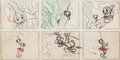 Animation Art:Concept Art, Donald Duck Concept Drawings by Cecil Beard Group of 9 (Walt Disney, c. 1960s).... (Total: 9 Items)