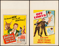 "Francis Covers the Big Town & Other Lot (Universal International, 1953). Window Cards (2) (14"" X 22""). Com..."