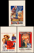"""Movie Posters:Western, Escape from Fort Bravo & Others Lot (MGM, 1953). Window Cards(3) (14"""" X 22""""). Western.. ... (Total: 3 Items)"""