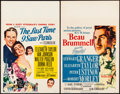 "Movie Posters:Romance, The Last Time I Saw Paris & Other Lot (MGM, 1954). Window Cards(2) (14"" X 22""). Romance.. ... (Total: 2 Items)"