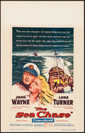 """Movie Posters:War, The Sea Chase (Warner Brothers, 1955). Window Card (14"""" X 22""""). War.. ..."""
