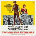 "Movie Posters:Western, Two Mules for Sister Sara (Universal, 1970). Six Sheet (79.5"" X 78""). Western.. ..."