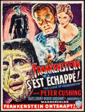 "Movie Posters:Horror, The Curse of Frankenstein (Warner Brothers, 1957). Trimmed Belgian(14"" X 18.25""). Horror.. ..."