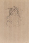 Fine Art - Work on Paper:Print, Attributed to Mary Cassatt (1844-1926). Sara Smiling, c. 1904. Drypoint on laid paper, posthumous impression. 14-3/4 x 9...