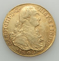 Colombia, Colombia: Charles IV gold 8 Escudos 1806 NR-JJ XF (cleaned,damaged),...