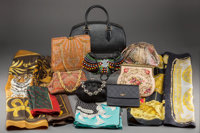 A Group of Eight Luxury Handbags and Six Scarves Marks: (various) 7-1/2 x 12-1/2 x 4-1/2 inches (19.1 x 31.8 x
