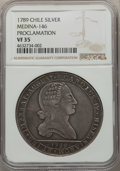 Chile, Chile: Charles IV silver Proclamation Medal 1789 VF35 NGC,...
