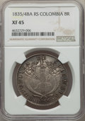 Colombia, Colombia: Republic 8 Reales 1835/4 BA-RS XF45 NGC,...