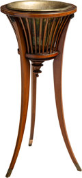Furniture , An English Mahogany and Brass Jardinière Stand, 19th century. 32 x 15 x 15 inches (81.3 x 38.1 x 38.1 cm). ...