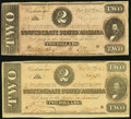 Confederate Notes:1864 Issues, T70 $2 1964 PF-1 Cr. 569 VG-Fine;. T70 $2 1864 PF-6 Cr. 568 Fine.. ... (Total: 2 notes)