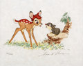 "Animation Art:Poster, Bambi ""Learning to Talk"" Limited Edition Lithograph Print#88/500 (Walt Disney, 1990)...."