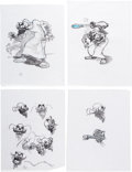 Animation Art:Concept Art, Epic Mickey Computer Game Character Development DrawingsOriginal Art by Carson Van Osten Group of 20 (Walt Disney, 20...(Total: 20 Items)
