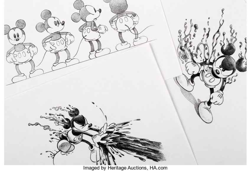 Epic Mickey Mickey Mouse Character Developmentmodel Sheet Original