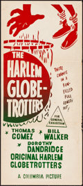 "Movie Posters:Sports, The Harlem Globetrotters (Columbia, 1951). Silk Screen Australian Daybill (13.5"" X 30""). Sports.. ..."