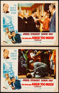 """The Man Who Knew Too Much (Paramount, R-1963). Lobby Cards (2) (11"""" X 14""""). Hitchcock. ... (Total: 2 Items)"""