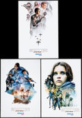 """Movie Posters:Science Fiction, Rogue One: A Star Wars Story (Walt Disney Studios, 2016). AMC IMAX Exclusive Posters (3) (13"""" X 19"""") 3 Styles. Science Ficti... (Total: 3 Items)"""