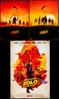 """Movie Posters:Science Fiction, Solo: A Star Wars Story (Walt Disney Studios, 2018). Mini Poster(13"""" X 19"""") & IMAX Posters (2) (9.5"""" X 13"""") SS Advance. Sci...(Total: 3 Items)"""