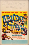 "Movie Posters:Western, Abilene Town (United Artists, 1946). Window Card (14"" X 22"").Western.. ..."