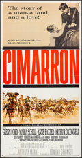 "Movie Posters:Western, Cimarron & Others Lot (MGM, 1960). Three Sheet (41"" X 79""), OneSheets (6) (27"" X 41""), & Uncut Pressbook (12.25"" X 15""). We...(Total: 8 Items)"
