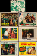 "Movie Posters:Drama, Man of a Thousand Faces & Others Lot (Universal International,1957). Lobby Cards (12) (11"" X 14""), Herald (11.5"" X 9""), &P... (Total: 14 Items)"
